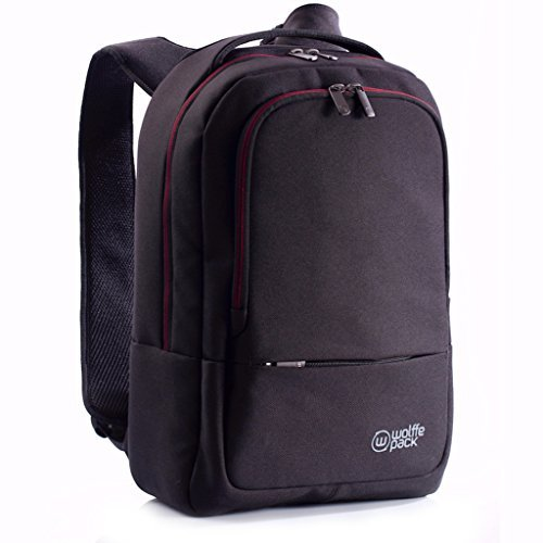 Wolffepack Metro Backpack - Award Winning Design - 15'' Laptop Rucksack Black by Wolffepack
