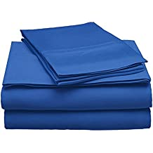 100% Modal Sheet Set - 300 Thread Count   Single Ply - Sateen Weave   Set Includes One Flat Sheet, One Fitted Sheet & Two Pillowcases - Multiple Sizes & Colors