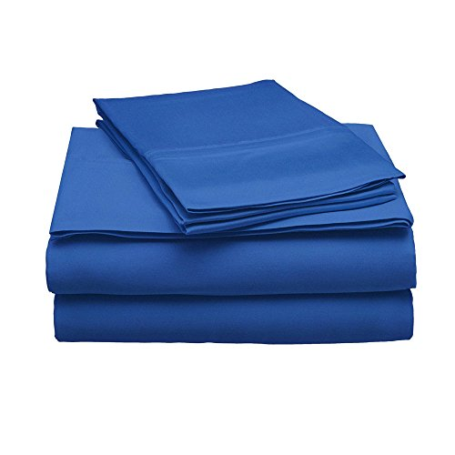 eLuxurySupply 100% Modal Sheet Set - 300 Thread Count   Single Ply - Sateen Weave   Set Includes One Flat Sheet, One Fitted Sheet & Two Pillowcases - Multiple Sizes & Colors ()