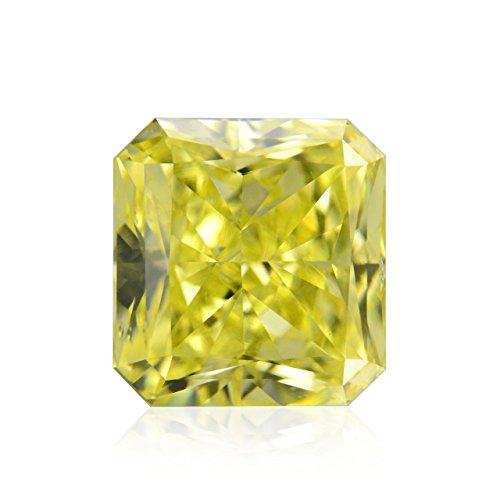 Diamond Radiant Loose Diamonds (0.73 Carat Fancy Intense Yellow Loose Diamond Natural Color Radiant Cut GIA)