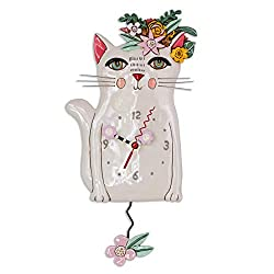 Allen Designs Whimsical Kitty Pendulum Wall Clock - Pretty Kitty