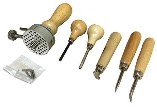ToolUSA Jeweler's Stone & Ring Working Deluxe Set - Burnishers, Bezel Roller, Prong Pushers, & Vise: (Square Shaped Stones Ring)