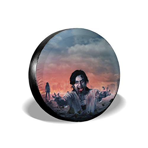 Tlsgcks Zombie Halloween Monster Car Accessories Waterproof Tire Cover Unisex Protection Spare Covers Storage Protective Cover Suitable for Jeep Car Trailer RV SUV Truck Interior -