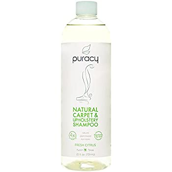 Puracy Natural Carpet Cleaner Detergent, 4X Professional Pet Stain Remover & Deodorizer, 25 Ounce