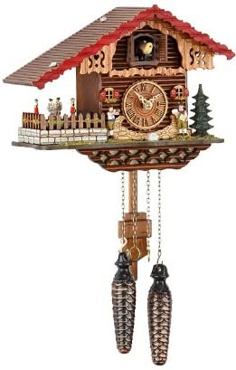 Trenkle Quartz Cuckoo Clock Swiss House with Music, Turning Dancers TU 457 QMT