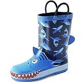 KushyShoo Boys Rain Boots, Waterproof Rubber