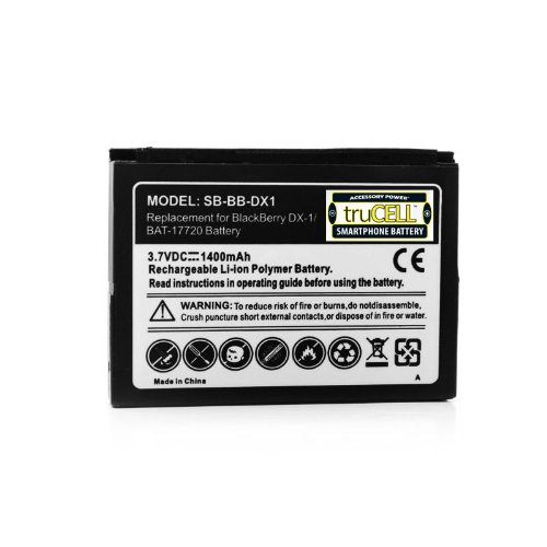- truCELL 1400 mAh BlackBerry DX-1 Battery for BlackBerry Bold 9650 / Curve 8900 / Storm / Tour 9630 & more! **Includes Micro USB Charge Cable**