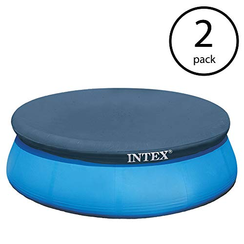 Pool Debris Cover - Intex 15 Foot Easy Set Swimming Pool Debris Vinyl Round Cover Tarp (2 Pack)