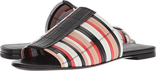 Via Spiga Women's Harlotte Woven Slide Sandal, Multicolor Leather, 8 Medium US by Via Spiga