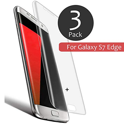 [ 3 Pack ] Tempered Glass Screen Protector for Galaxy S7 Edge, 100% Full Coverage for The Phone Screen,with 9H Hardness and 99% Transparency