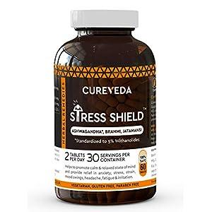 Cureveda Herbal Stress Shield Tablets- Suppor...