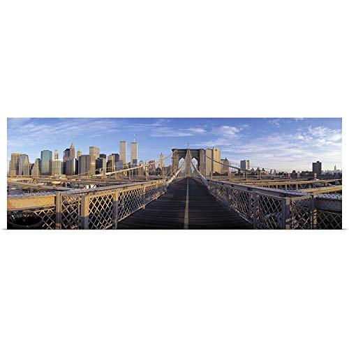 GREATBIGCANVAS Poster Print Entitled Pedestrian Walkway Brooklyn Bridge New York NY by ()