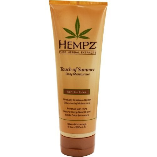 HEMPZ by Hempz TOUCH OF SUMMER DAILY MOISTURIZER FAIR SKIN TONES 8OZ for UNISEX(Package Of 2)