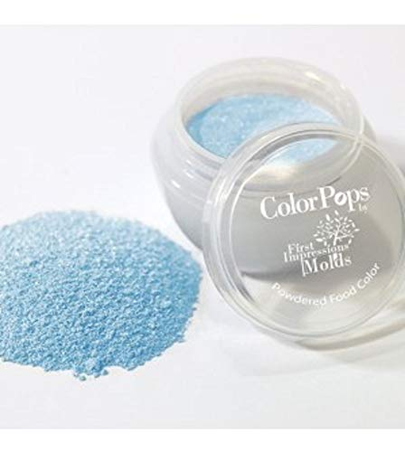 (ColorPops by First Impressions Molds Pearl Blue 7 Edible Powder Food Color For Cake Decorating, Baking, and Gumpaste Flowers 10 gr/vol single jar)