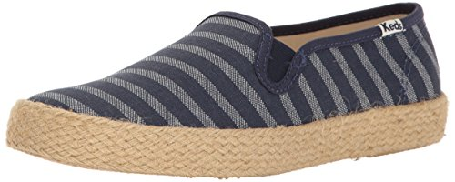 Keds Champion Stripe - Keds Women's Champion Slip Breton Stripe Jute Fashion Sneaker, Navy, 5.5 M US