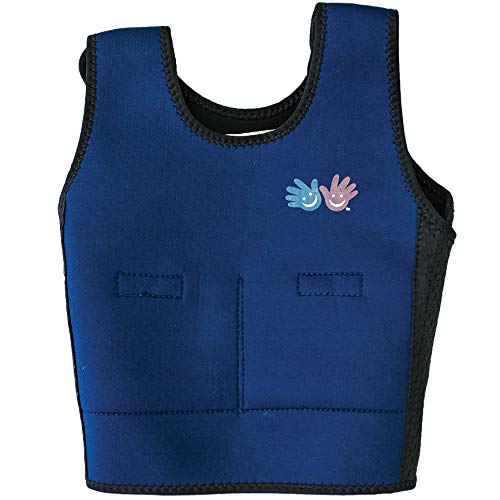 Fun and Functions Blue Weighted Compression Vest - Medium (9+) - Helps with Mood & Attention, Sensory Over Responding, Sensory Seeking, Travel Issues