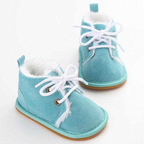 Tefamore Zapatos Bebe Botas de Matin Caliente para Primeros caminantes azul
