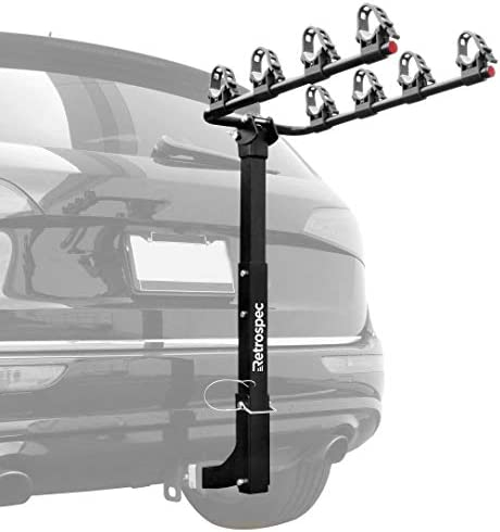 Retrospec Lenox Car Hitch Mount Bike Rack with 2-Inch Receiver 4 Bicycle Carrier