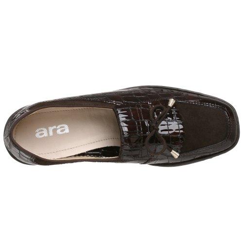 Ara Womens Rachel Slip-on Loafer Donkerbruin Croco