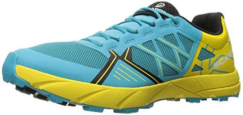Scarpa Womens Spin Shoes & Guanto E-tip Fascio Scuba Blu / Limone