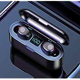 PANFREY Audífonos Bluetooth Inalámbricos, Control Táctil y LED Pantalla, Bluetooth 5.0 Auriculares Deportivos IPX7 Impermeabl