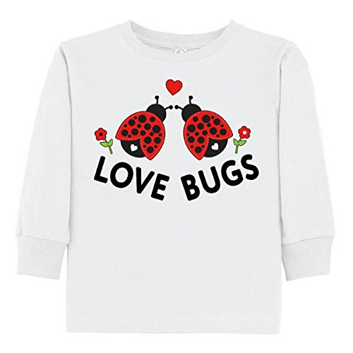 Bugs Long Sleeve Shirt (inktastic Love Bugs Red Ladybugs Toddler Long Sleeve T-Shirt 2T White)