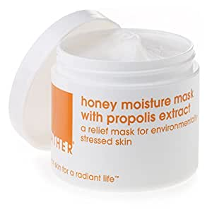 LATHER Honey Moisture Mask with Propolis Extract 4 oz - hydrating face mask for environmentally-stressed skin