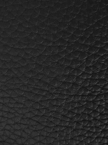 (TEXTURED PVC VINYL LEATHER FABRIC - Black - 55