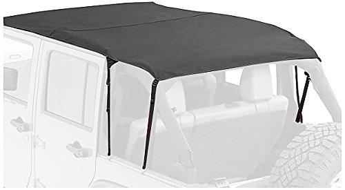 Bestop 52402-35 Black Diamond Fabric Safari-Style Sun Bikini Top (Jeep Wrangler 2014 Bikini Top)