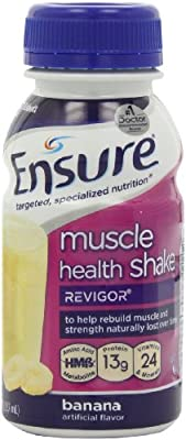 Ensure Muscle Health Banana Cream Shake, 8-Ounce(Pack of 16) by Ensure