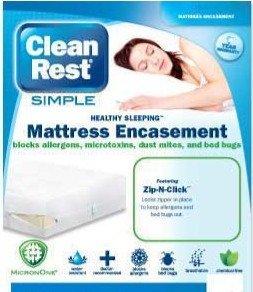 Clean Rest Simple Bed Bug & Allergen Blocking Mattress Encas