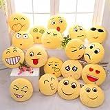 naughty bear 2 - Cute Emoji Expression Throw Pillow Stuffed Plush Sofa Bed Cushion