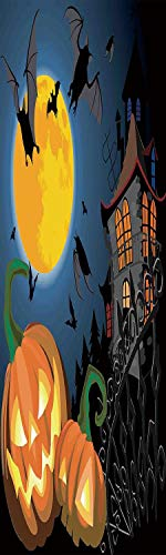 Halloween Decorations 3D Decorative Film Privacy Window Film No Glue,Frosted Film Decorative,Gothic Halloween Haunted House Party Theme Decor Trick or Treat for Kids,for Home&Office,23.6x59Inch -