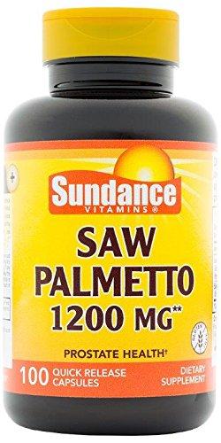 Sundance Saw Palmetto 1200 mg Tablets, 100 Count