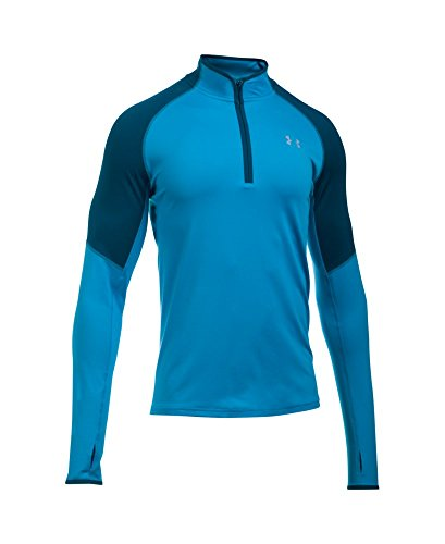 Under Armour Men's No Breaks Run 1/4 Zip, Brilliant Blue /Reflective, Small by Under Armour (Image #3)
