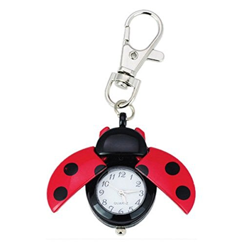 Lady Key Ring - Absolute Fancy Ladybug Vintage Quartz Animal Keychain Pendant gift