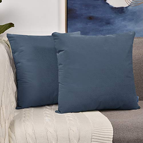 Sunfay Throw Pillows Set Decorative Soft Faux Leather Modern Geometric Covers for Sofa Couch Bedroom 18