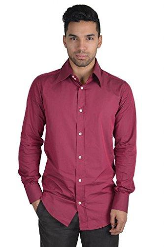 [Dolce & Gabbana Long Sleeve Dress Shirt US 17.5 IT 44 Burgundy] (Dolce & Gabbana Long Sleeve Dress Shirt)