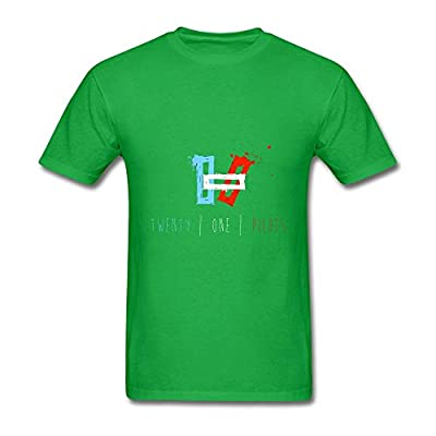 Guwmi Men's Twenty One Pilots Art T Shirt Forest Green L