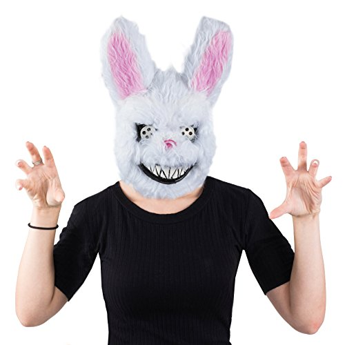 Tigerdoe Scary Masks - Creepy Bunny Mask - Killer Bunny Mask - Spooky -