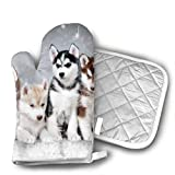 Mnsuh9 Lovely Huskies Brother Athletic.jpg Grill Oven Gloves ¨C Heat Resistant Gloves ¨C