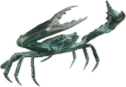 Design Toscano SU1869 Crab Statue Size  Large,Verdigris