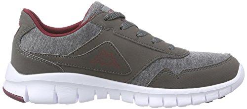 Kappa BILBAO II JERSEY Footwear unisex - zapatilla deportiva de material sintético Unisex adulto gris - Grau (1325 anthra/darkred)