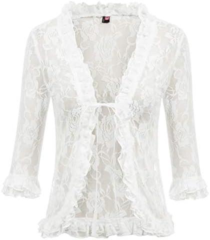 Kancy Kole Damen Eleganter Open Front Bolero Jacke