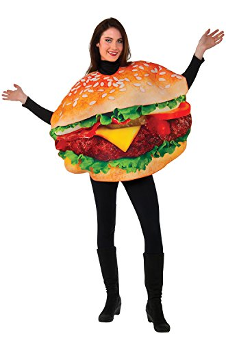 Rubie's Men's Burger Costume, Multi, One Size - Fast And Easy Men's Halloween Costumes