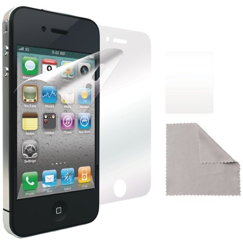 Film Iluv Protective - iLuv Clear Protective Film Kit for iPhone 4S - 1 Pack - Case - Retail Packaging - Clear