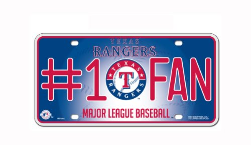 - MLB Texas Rangers #1 Fan Metal Tag