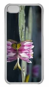Customized iphone 5C PC Transparent Case - Water Lily Reflection Personalized Cover