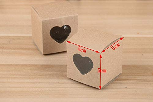Gift Bags Wrapping Supplies - Heart Window Wedding Candy Box Paper Candy Wedding Favor Bag Party Wish Sn2100 - Box Kraft With Card Triumph Candy Favor Stationery House Cards]()