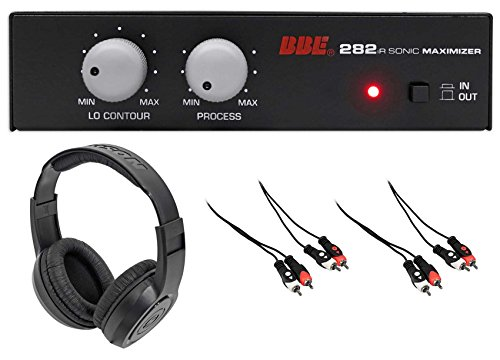 BBE 282IR Desktop Sonic Maximizer w/RCA Inputs/Outputs+Headphones+RCA Cables by BBE